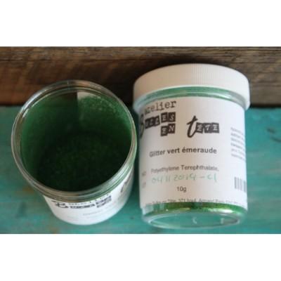 Glitter vert émeraude 10g